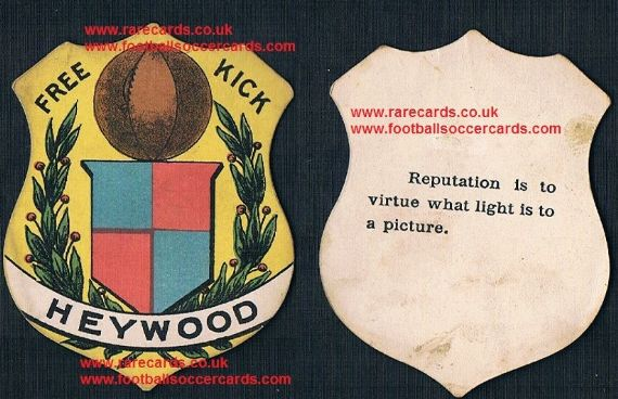 1890s Heywood f.c. sports card by Briggs or Sharpe
